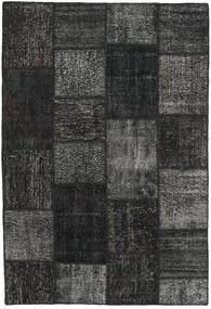 Patchwork Rug 159X231 Authentic  Modern Handknotted Black/Dark Grey (Wool, Turkey)