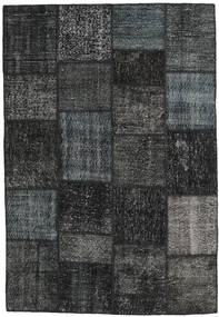 Patchwork Alfombra 159X232 Moderna Hecha A Mano Gris Oscuro/Negro (Lana, Turquía)
