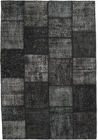 Patchwork Rug 158X234 Authentic  Modern Handknotted Black/Dark Grey (Wool, Turkey)
