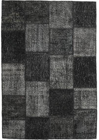 Patchwork Rug 158X230 Authentic  Modern Handknotted Dark Grey/Black (Wool, Turkey)