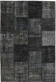 Patchwork Rug 158X232 Authentic  Modern Handknotted Black/Dark Grey (Wool, Turkey)