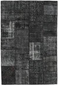 Patchwork Matto 159X233 Moderni Käsinsolmittu Musta/Tummanharmaa (Villa, Turkki)