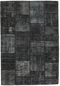 Patchwork Rug 159X230 Authentic  Modern Handknotted Black/Dark Grey (Wool, Turkey)