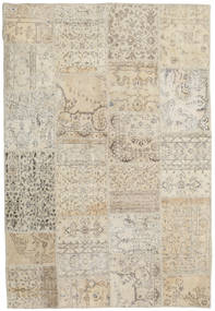 Patchwork Rug 158X232 Authentic  Modern Handknotted Light Grey/Dark Beige (Wool, Turkey)