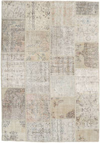 Patchwork Rug 159X230 Authentic  Modern Handknotted Light Grey/Light Brown (Wool, Turkey)