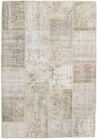 Patchwork Rug 160X231 Authentic  Modern Handknotted Light Grey/Light Brown (Wool, Turkey)