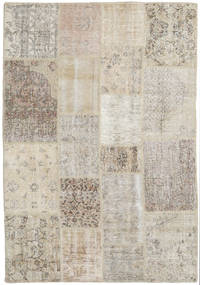 Patchwork Rug 139X201 Authentic  Modern Handknotted Light Grey/Light Brown (Wool, Turkey)