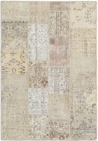 Patchwork Rug 138X202 Authentic  Modern Handknotted Light Brown/Light Grey (Wool, Turkey)