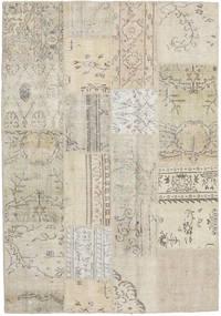 パッチワーク 絨毯 140X202 モダン 手織り 暗めのベージュ色の/薄茶色 (ウール, トルコ)