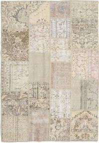 Patchwork Tapis 140X202 Moderne Fait Main Marron Clair/Beige Foncé (Laine, Turquie)