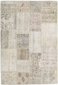 Patchwork Rug 138X201 Authentic  Modern Handknotted Light Grey/Light Brown (Wool, Turkey)