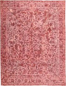 Colored Vintage Teppe 290X390 Ekte Moderne Håndknyttet Lyserosa/Mørk Beige/Rust Stort (Ull, Persia/Iran)
