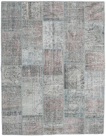 Patchwork Rug 197X253 Authentic  Modern Handknotted Light Grey/Dark Grey (Wool, Turkey)