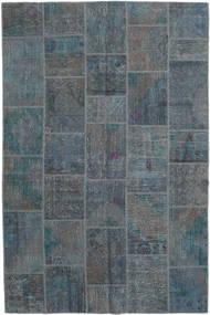 Patchwork Rug 198X301 Authentic  Modern Handknotted Dark Grey/Light Grey (Wool, Turkey)