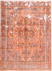 Colored Vintage Rug 235X330 Authentic  Modern Handknotted Light Pink/Brown/Light Brown (Wool, Persia/Iran)