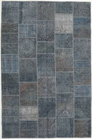 Patchwork Rug 200X302 Authentic  Modern Handknotted Dark Grey/Dark Blue (Wool, Turkey)