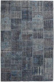 Patchwork Matto 198X302 Moderni Käsinsolmittu Tummanharmaa/Tummansininen (Villa, Turkki)