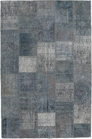 Patchwork Rug 200X302 Authentic  Modern Handknotted Dark Grey/Light Grey (Wool, Turkey)