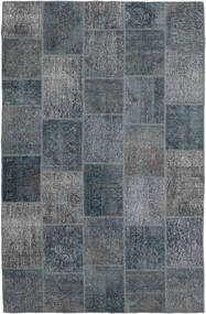 Patchwork Rug 195X303 Authentic  Modern Handknotted Dark Grey/Light Blue (Wool, Turkey)