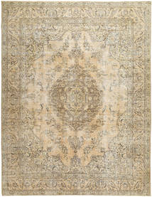 Colored Vintage Rug 295X385 Authentic  Modern Handknotted Light Brown/Beige Large (Wool, Persia/Iran)