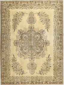 Colored Vintage Rug 295X393 Authentic  Modern Handknotted Yellow/Light Brown/Light Green Large (Wool, Persia/Iran)
