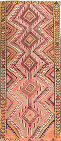 Kilim Fars Rug 147X350 Authentic  Oriental Handwoven Hallway Runner  Dark Beige/Light Brown (Wool, Persia/Iran)