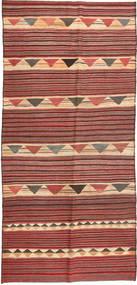 Chilim Fars Covor 140X320 Orientale Lucrate De Mână Roșu-Închis/Ruginiu (Lână, Persia/Iran)