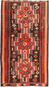 Kilim Fars Rug 175X314 Authentic  Oriental Handwoven Dark Brown/Rust Red (Wool, Persia/Iran)