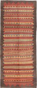 Kilim Fars Szőnyeg 140X345 Keleti Kézi Szövésű Világosbarna/Sötétpiros (Gyapjú, Perzsia/Irán)