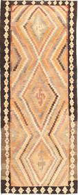 Kelim Fars Teppe 155X400 Ekte Orientalsk Håndvevd Teppeløpere Lysbrun/Mørk Beige (Ull, Persia/Iran)