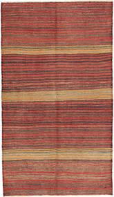 Kelim Fars Tapijt 125X220 Echt Oosters Handgeweven Bruin/Lichtbruin (Wol, Perzië/Iran)