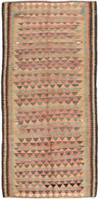 Kilim Fars Rug 130X285 Authentic  Oriental Handwoven Light Brown/Light Pink (Wool, Persia/Iran)