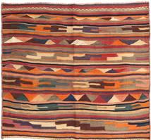 Kelim Fars Teppe 145X162 Ekte Orientalsk Håndvevd Mørk Rød/Mørk Brun (Ull, Persia/Iran)