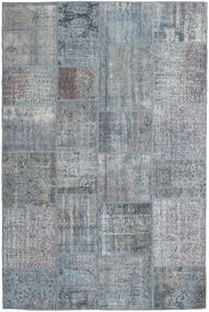 Patchwork Rug 200X298 Authentic Modern Handknotted Light Grey/Dark Grey (Wool, Turkey)
