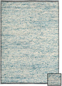 Luna - Turquoise/Blue Rug 160X230 Authentic  Modern Handwoven Light Grey/Beige (Wool, India)