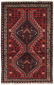 Shiraz Rug 82X127 Authentic  Oriental Handknotted Dark Red/Black (Wool, Persia/Iran)