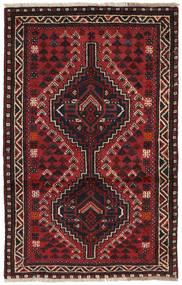 Shiraz Rug 82X127 Authentic  Oriental Handknotted Dark Red/Black (Wool, Persia/Iran)