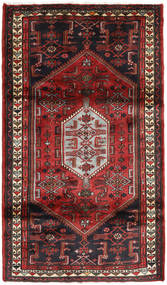 Hamadan Rug 109X190 Authentic  Oriental Handknotted Dark Red/Black (Wool, Persia/Iran)