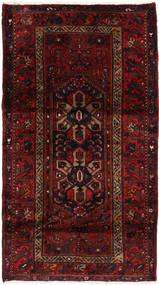 Hamadan Teppich  108X192 Echter Orientalischer Handgeknüpfter Dunkelbraun/Dunkelrot (Wolle, Persien/Iran)