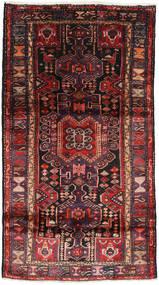 Hamadan Matto 109X195 Itämainen Käsinsolmittu Musta/Tummanpunainen (Villa, Persia/Iran)