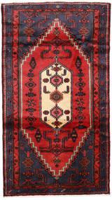 Hamadan Teppich  110X190 Echter Orientalischer Handgeknüpfter Dunkelgrün/Rost/Rot (Wolle, Persien/Iran)