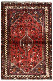 Shiraz Matto 103X154 Itämainen Käsinsolmittu Tummanruskea/Tummanpunainen (Villa, Persia/Iran)