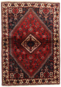 Shiraz Rug 113X160 Authentic  Oriental Handknotted Dark Red/Black (Wool, Persia/Iran)