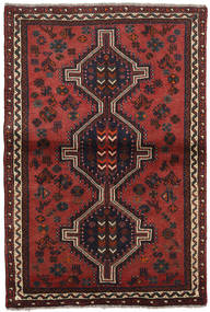 Shiraz Rug 103X155 Authentic  Oriental Handknotted Dark Red/Black (Wool, Persia/Iran)