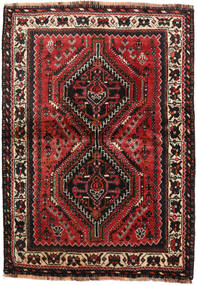 Shiraz Rug 111X157 Authentic  Oriental Handknotted Dark Brown/Dark Red (Wool, Persia/Iran)