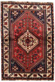 Shiraz Rug 106X155 Authentic  Oriental Handknotted Dark Red/Brown (Wool, Persia/Iran)