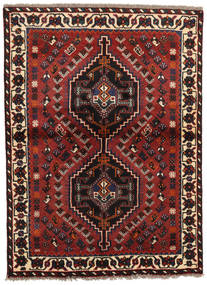 Shiraz Rug 106X145 Authentic Oriental Handknotted Dark Red/Black (Wool, Persia/Iran)