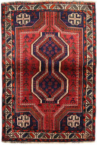 Shiraz Rug 111X162 Authentic  Oriental Handknotted Dark Purple/Dark Red (Wool, Persia/Iran)