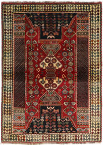 Qashqai Rug 115X160 Authentic  Oriental Handknotted Dark Brown/Dark Red (Wool, Persia/Iran)