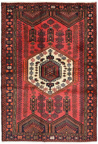 Hamadan Rug 125X182 Authentic  Oriental Handknotted Dark Red/Brown/Black (Wool, Persia/Iran)
